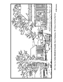 Currier and Ives.  Home to Thanksgiving.  Coloring page and lesson plan ideas