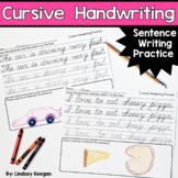 Cursive Handwriting Practice - Sentence Writing Practice Pages