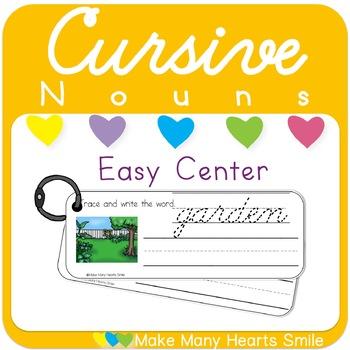 Cursive Handwriting: Nouns Worksheets and Strips