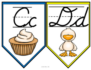 Cursive ABC Classroom Banner: THREE options for printing!