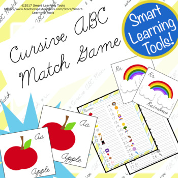 Cursive ABC Match Game