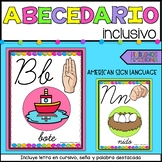 Cursive ABC posters in SPANISH   Abecedario en cursivo   Bright colors