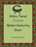 Adinkra Themed Cursive Handwriting Practice Sheets