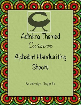 Adinkra Themed Cursive Handwriting Practice Sheets