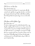 Cursive Aesop Fable. Compare: The Goose Who Laid the Golden Egg, Woman & Her Hen