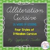 Cursive Alliteration - 26 Weeks of Practice