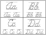 Cursive Alphabet 4x5 Tracing Cards
