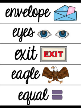 Cursive Alphabet Anchor Charts With Word Wall