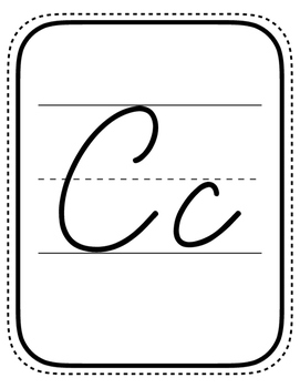 Cursive Alphabet - Black & White!