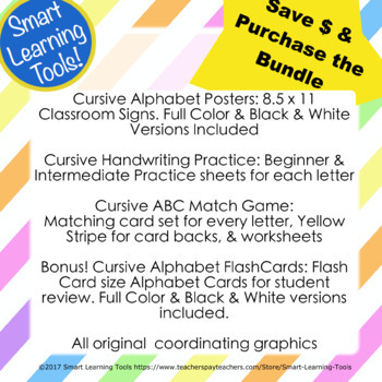 Cursive Handwriting Practice Bundle