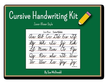 Cursive Alphabet Bundle (ZB) - Practice Pages, Wall Charts, and Reference Cards