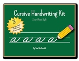 Cursive Alphabet Bundle (ZB) - Practice Pages, Wall Charts