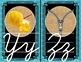 Cursive Alphabet (Butterfly, Blue, Black & Burlap Theme)