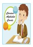 Cursive Alphabet Cards / Cursive Alphabet Border