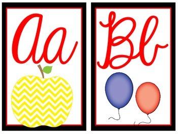 Cursive Alphabet Cards FREEBIE