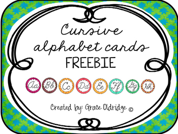Cursive Alphabet Cards Freebie