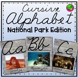 Cursive Alphabet Cards National Parks