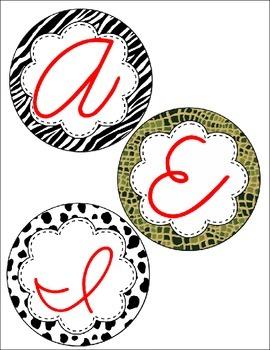 Cursive Alphabet Circles