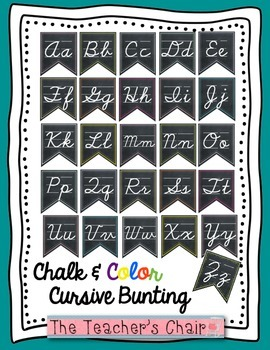Cursive Alphabet Classroom Bunting