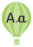 Cursive Alphabet Display