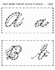 Cursive Alphabet Flashcards: Quarter Sheet and Half Sheet Format