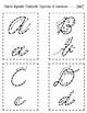 Cursive Alphabet Flashcards: Quarter Sheet and Half Sheet Format
