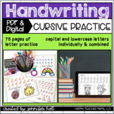 Cursive Alphabet Handwriting Practice   PDF & DIGITAL for