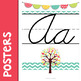 Bloomin' Cute Cursive Alphabet Banner