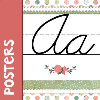 Shabby Class Cursive Alphabet Banner