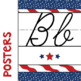 All American Cursive Alphabet Banner