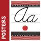Polka Dot Cursive Alphabet Banner