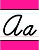 Cursive Alphabet Line - Bright Solids