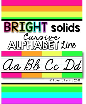 Cursive Alphabet Line - Bright Solids