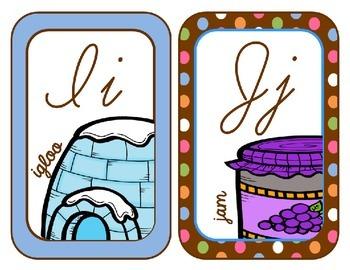 Cursive Alphabet Line {Chocolate Polka Dots}