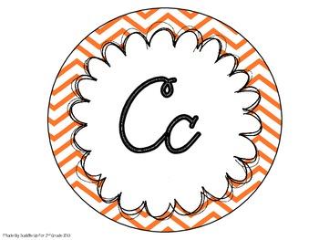 Cursive Alphabet Line: Chevron