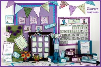 Alphabet Line – Coordinates with Book Smart Owls Classroom Theme