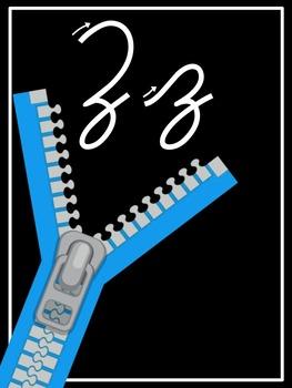 Cursive Alphabet Line ( Directional Cursive)