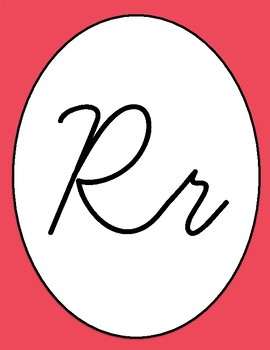 Cursive Alphabet Line - Multicolored Posters