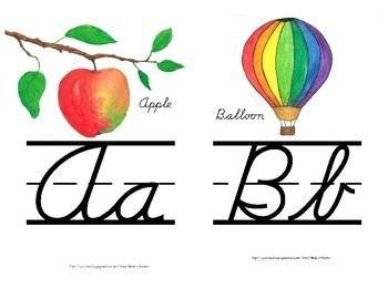 Cursive Alphabet Line Small Version