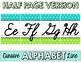 Cursive Alphabet Line - Turquoise & Lime Polka Dot