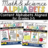 Cursive Alphabet Math Science