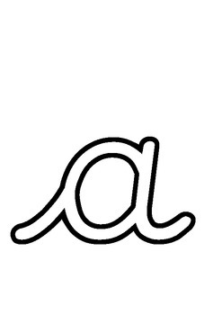 Cursive Alphabet Outlines - Decorate Your Own! Perfect for classroom displays.