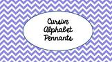 Cursive Alphabet Pennants
