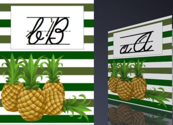 Cursive Alphabet: Pineapple