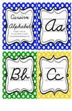Cursive Alphabet (Polka Dots)