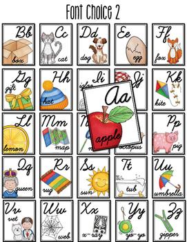 Cursive Alphabet Poster