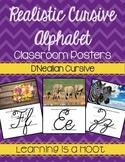 Cursive Alphabet Poster (Real Photo Images) - D'Nealian