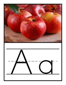 Primary Alphabet Poster (Real Photo Images)