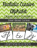 Cursive Alphabet Poster (Real Photo Images) - Zaner-Bloser