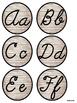 Cursive Alphabet Poster (Rustic Theme)